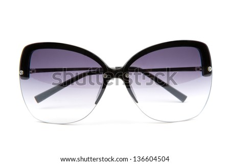 sun glasses isolated on a white background - stock photo