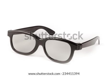 Sun glasses isolated on white background - stock photo