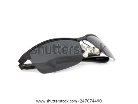 sun-glasses on a white background - stock photo