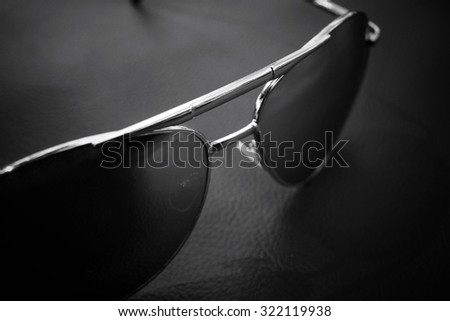 Sun glasses with shadow
