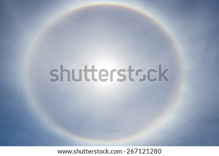 Sun halo - stock photo