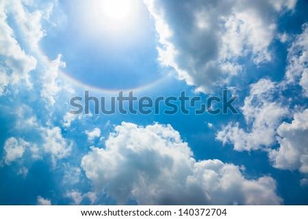 Sun halo (Horizontal) - stock photo
