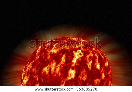 Sun illustation. The Sun is the star at the center of the Solar System and is by far the most important source of energy for life on Earth.