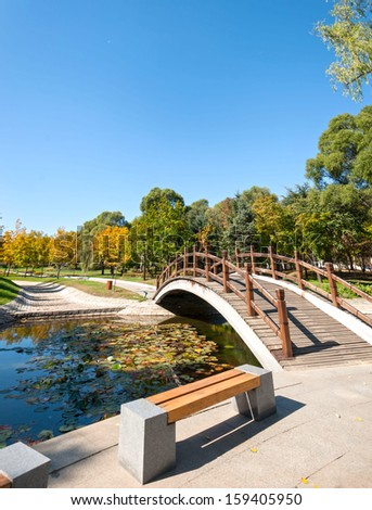 Sun Island Park in autumn, located in Harbin City, Heilongjiang Province, China.