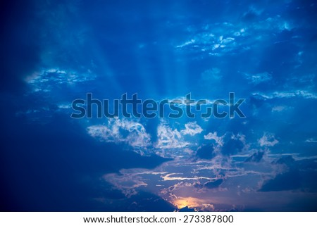 sun light. - stock photo