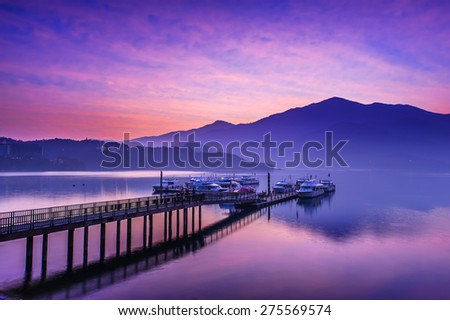 Sun Moon Lake, Nantou, Taiwan - stock photo