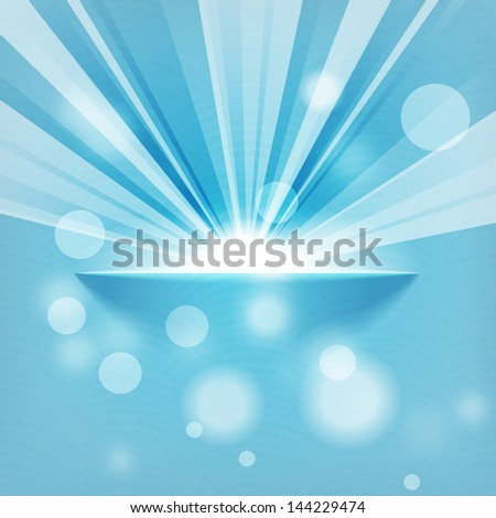 sun on blue background with copy space - stock photo