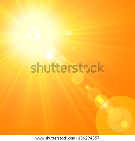 sun orange background with yellow lights