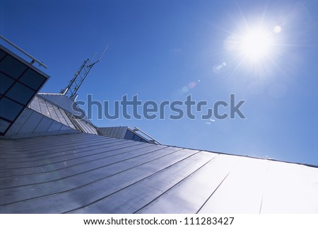 Sun over a tin roof
