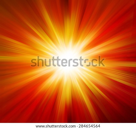 Sun ray explosion effects background - stock photo