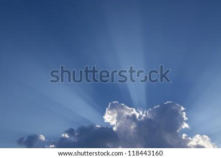 Sun rays - stock photo