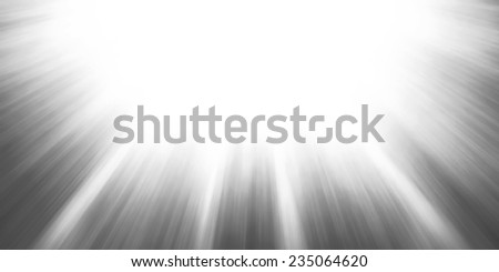 sun rays or sun beams background, bright sunshine shining in the sky, zoomed filter effect, glowing brilliant streaks of light, abstract black and white artsy background - stock photo