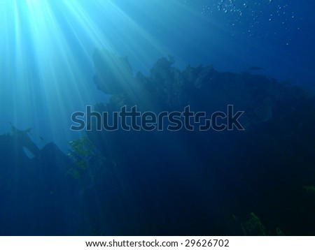 Sun rays under water - El Nido, Philippines