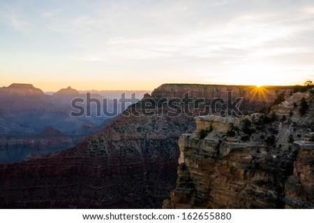 Sun rise of Grand Canyon - stock photo