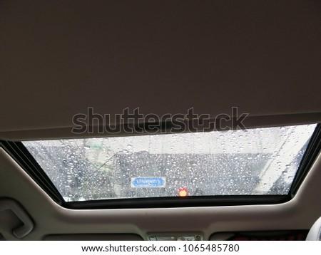 Sun Roof In Car.