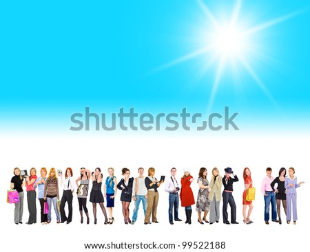 Sun Shining Idea under Sun - stock photo