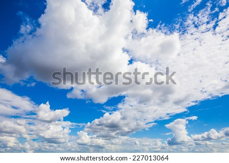 Sun, sky and clouds with sunrise - stock photo