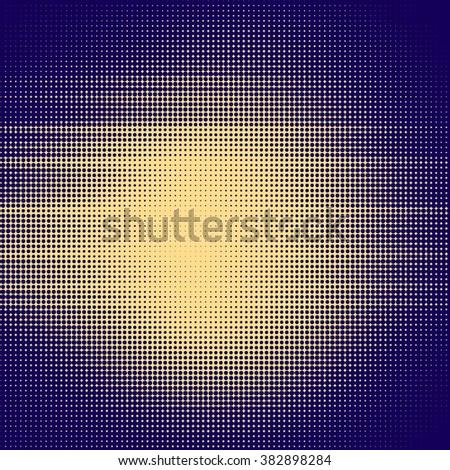 Sun sunburst abstract background, Halftone effect - stock photo
