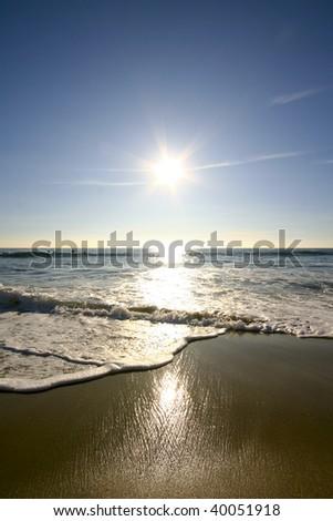 Sun, surf and sand - stock photo