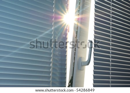 Sun through the window. Element of design. - stock photo