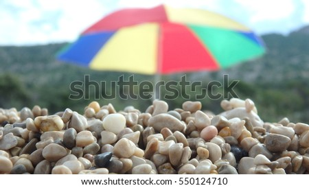 Sun umbrella on a beach