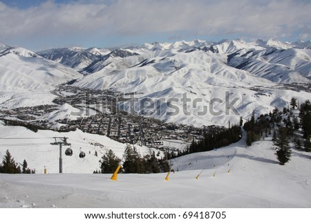Sun Valley Resort, Idaho - stock photo