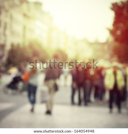 sun vintage blur background - stock photo