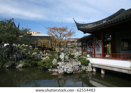 Sun Yat Set Chinese Garden, Vancouver, BC, Canada - stock photo