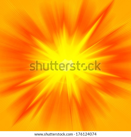 sun yellow and rays background