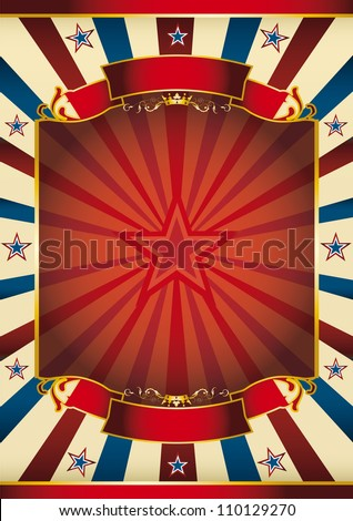 sunbeam poster with star. A large red frame with sunbeams for your message - stock photo