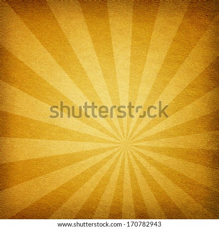 Sunburst abstract yellow fabric texture background