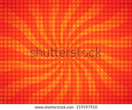 Sunburst and dots illustration - stock photo