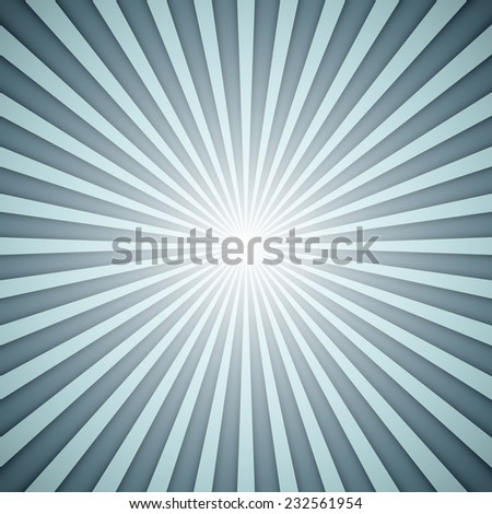 Sunburst grey and blue background with shadow effect. - stock photo