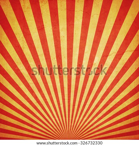 sunburst retro background and duplicate grunge texture - stock photo