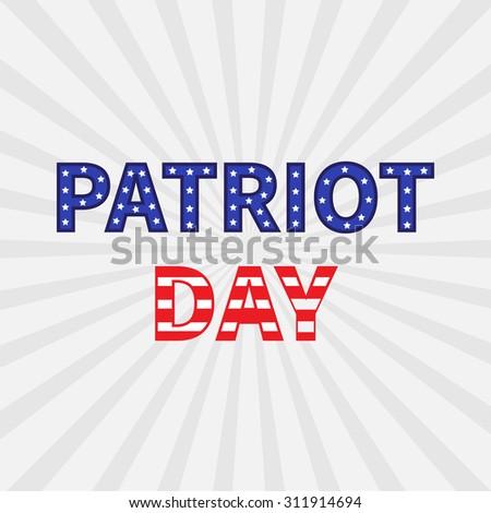 Sunburst with ray of light. Patriot Day background flat design  - stock photo