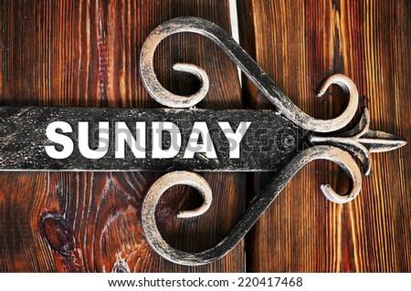 Sunday - stock photo