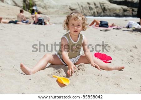 Sunday afternoon on the beach in Santa Cruz, California - stock photo