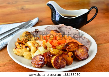 Sunday dinner - stock photo
