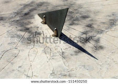 sundial - stock photo