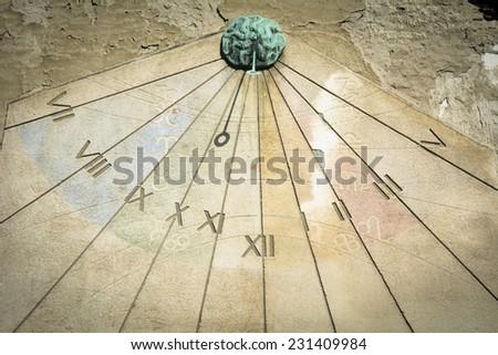 Sundial - stock photo