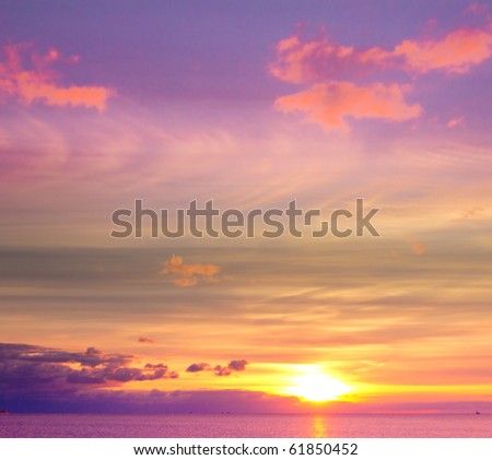 Sundown Cloudscape - stock photo