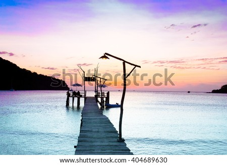 Sundown Serenity Path to the Night  - stock photo