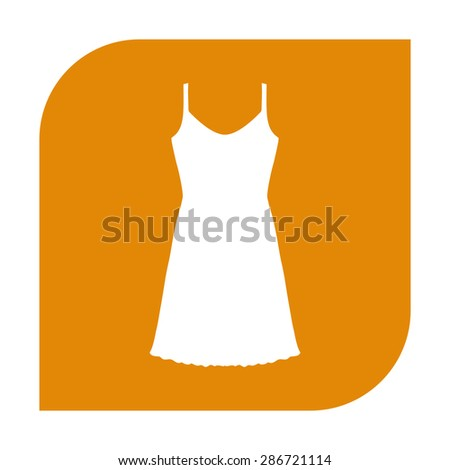 Sundress, Evening dress, combination or nightie, the silhouette. Menu item in the web design. - stock photo