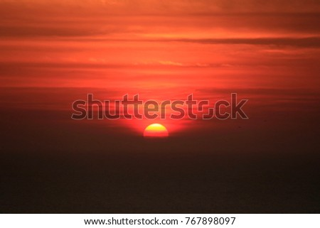 Sunet over the Carribean sea.  Tagana, Colombia