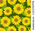sunflower flower seamless background - stock