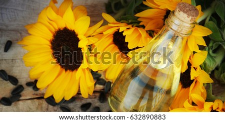Sunflower on the old wooden background