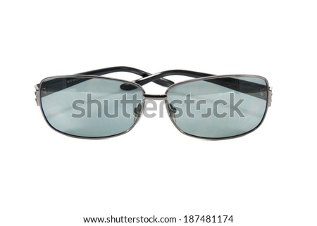 Sunglass modern style on a white background.