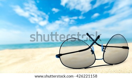 Sunglasses. - stock photo