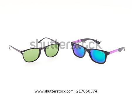 Sunglasses eyewear isolated on white - stock photo