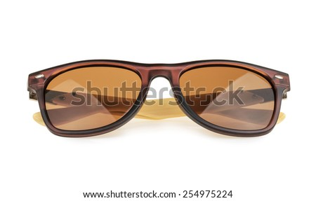 Sunglasses isolated against a white background - stock photo